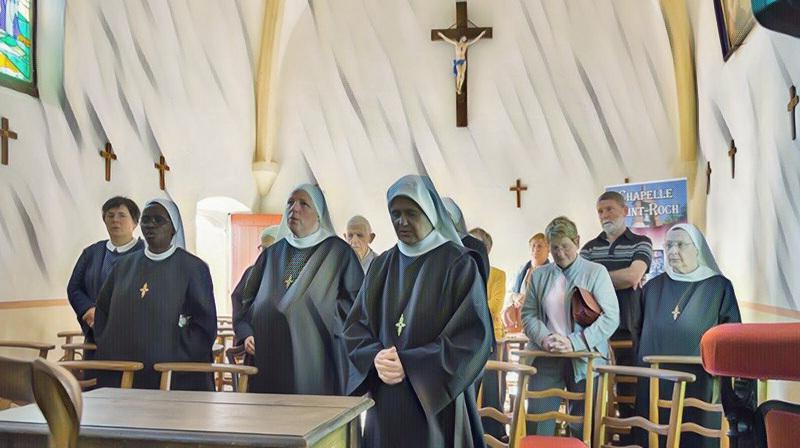 Tablica pamiątkowa ku czci M. Mechtyldy w kaplicy św. Rocha w Saint-Dié